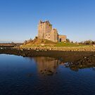 Aerial Irish Castle Sunset Landscape by Noel Moore Up The Banner Photography