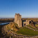 Irish Castle Aerial Sunset Landscape by Noel Moore Up The Banner Photography
