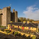 Aerial Bunratty Castle and Durty Nelly's Irish Pub by Noel Moore Up The Banner Photography