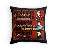 The Captain, The Superhero, and The Writer Quotes Throw Pillow