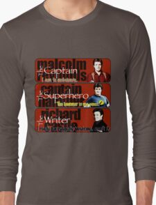 The Captain, The Superhero, and The Writer Quotes Long Sleeve T-Shirt