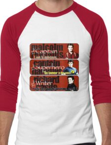 The Captain, The Superhero, and The Writer Quotes Men's Baseball ¾ T-Shirt