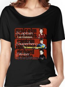 The Captain, The Superhero, and The Writer Quotes Women's Relaxed Fit T-Shirt