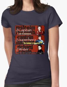 The Captain, The Superhero, and The Writer Quotes Womens Fitted T-Shirt