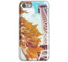 Retro Eiffel Tower In The Fall iPhone Case/Skin