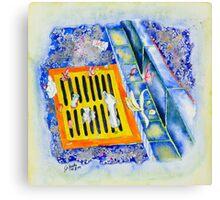 Street-drain Canvas Print