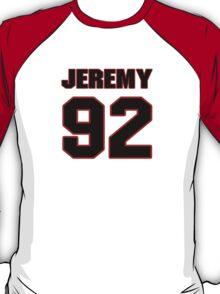 NFL Player Jeremy Mincey ninetytwo 92 T-Shirt