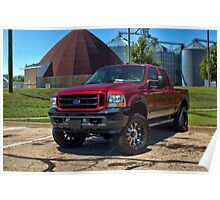 2002 Ford F550 Pickup Truck Poster
