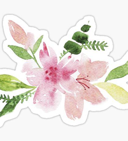 Flowers watercolor illustration Sticker