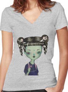 Frankie Goes To School T-shirt femme moulant col V