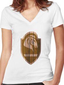 Whiterun Hold Shield Women's Fitted V-Neck T-Shirt