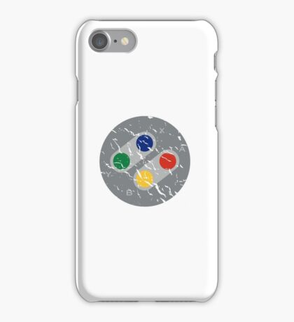SNES Controller Buttons iPhone Case/Skin