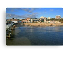 Sea Front, Bournemouth Canvas Print