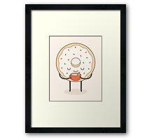 donut loves holidays Framed Print