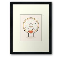 donut loves holidays Framed Print
