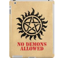 Supernatural No Demons Allowed [BLACK] iPad Case/Skin