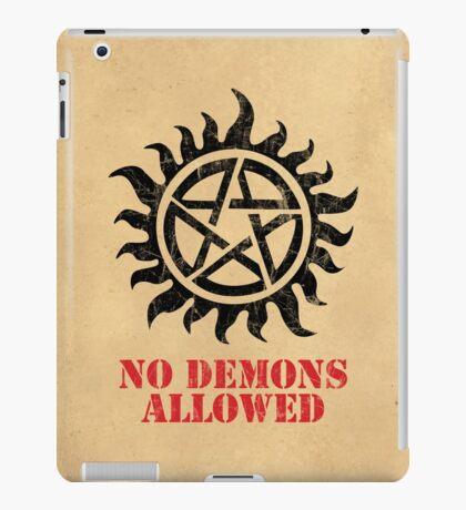 Supernatural No Demons Allowed [BLACK] iPad Case/Skin