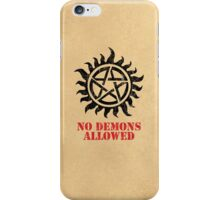 Supernatural No Demons Allowed [BLACK] iPhone Case/Skin