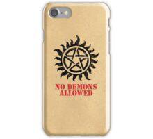 Supernatural No Demons Allowed [BLACK] iPhone Case/Skin