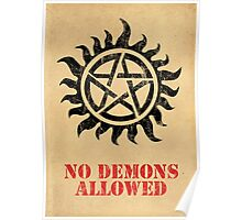 Supernatural No Demons Allowed [BLACK] Poster