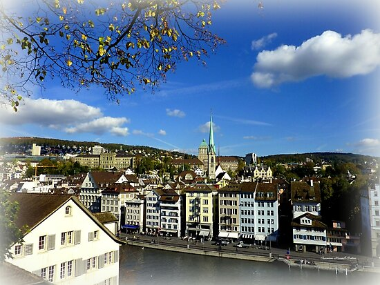View from Lindenhof by Charmiene Maxwell-Batten