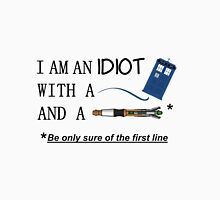 Idiot with a box and a screwdriver Men's Baseball ¾ T-Shirt