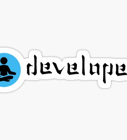 zen developer blue black Sticker