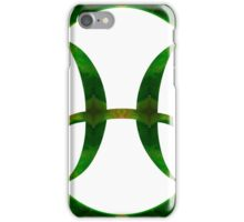Pices Symbol and Heart Chakra Abstract Spiritual Artwork  iPhone Case/Skin
