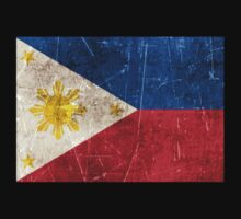 Vintage Aged and Scratched Filipino Flag Kids Clothes