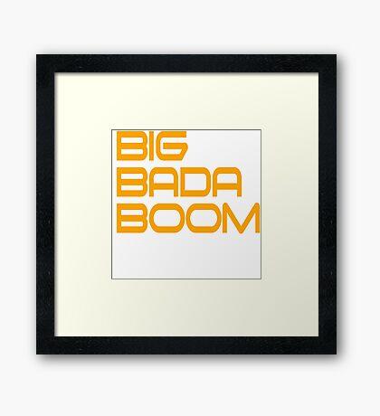 Big Bada Boom - The 5th Element Framed Print