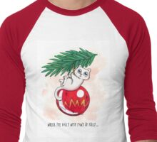 Wreck the Balls with Paws of Folly... Men's Baseball ¾ T-Shirt