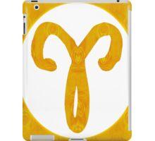 Aries and Solar Chakra Abstract Spiritual Artwork  iPad Case/Skin