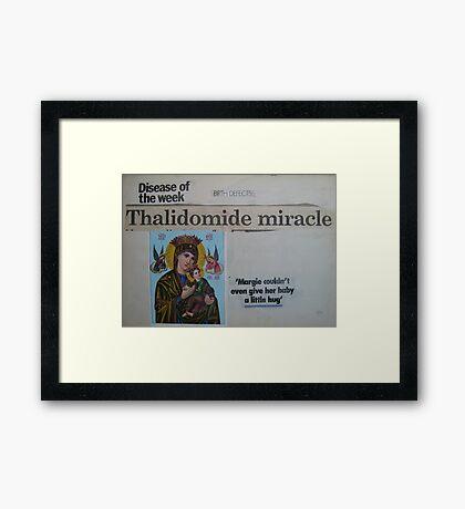 Thalidomide Miracle Framed Print