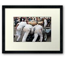 Maserati Push Start Goodwood Revival 2014 Framed Print