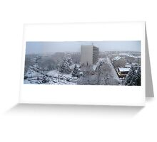 Town under the snow Greeting Card