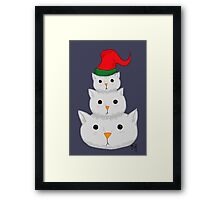 Snow Cats Framed Print