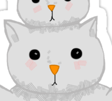 Snow Cats Sticker