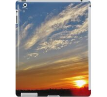 Blue Orange Sunset over New York City  iPad Case/Skin