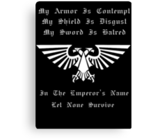 For the emperor! white version Canvas Print