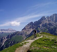 Biking in the dolomites by Kath Cashion