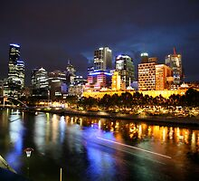 Yarra at night by Mark Williamson