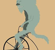 Monster Riding a Bike by luisguadalupe