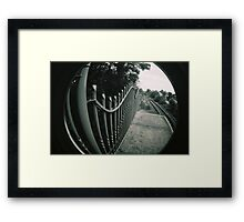 Lines and tracks Framed Print