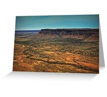Kings Canyon ... from a helicopter. Greeting Card