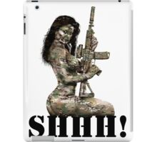 Shhh ! Special Forces Pinup, 7th SFG iPad Case/Skin