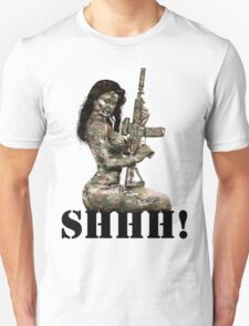 Shhh ! Special Forces Pinup, 7th SFG T-Shirt