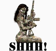 Shhh ! Special Forces Pinup, 7th SFG Unisex T-Shirt