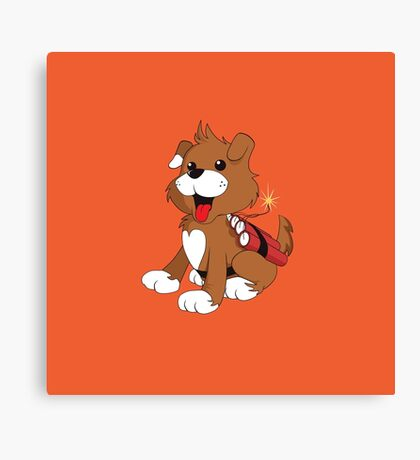 Doggy Dynamite Canvas Print