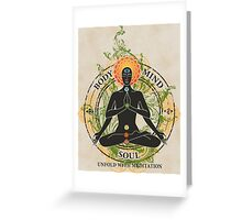 Mind Body and Soul KUNDALINI Greeting Card
