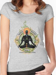 Mind Body and Soul KUNDALINI Women's Fitted Scoop T-Shirt
